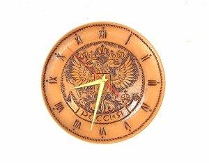 255Пн(ч) Панно-Часы Россия